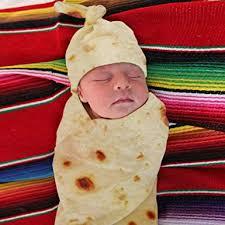 Burrito <b>Baby Blanket</b> Flour Tortilla Swaddle Blanket Sleeping ...