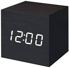 T&F <b>Digital Alarm Clock</b> Wooden LED Light <b>Multifunctional</b> Modern…