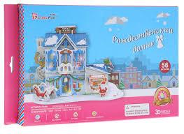 <b>CubicFun</b> 3D Пазл <b>Рождественский домик</b> 2 с подсветкой ...