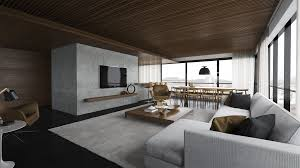modern grey brown living room