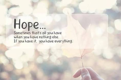 Hope -the anchor of soul