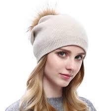 <b>Women Knit</b> Wool <b>Beanie</b> - Winter Fashion <b>Solid</b> Wool <b>Hats</b> Real ...