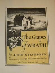 imaging a daunting journey the rockwell center for american story illustrations for john steinbeck s the grapes of wrath new york the limited edition club 1940 lithograph