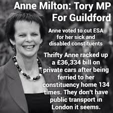 Image result for Anne Milton MP scandal