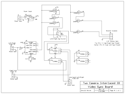two camera field sequential d circuit designtwo camera  d sync board schematic diagram jpg