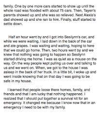 mrs  brooks th grade class   tsunami stories  five paragraphsakasha page