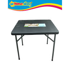 Xtreme Square Folding Table (34 x34 29 ) <b>Heavy Duty</b> Thick Plastic ...