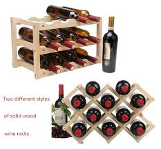 Wooden Wine Rack <b>10/12 Bottle Holder</b> | Bar Decor in 2019 | Wood ...