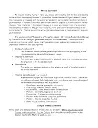 example thesis statement for a research paper research essay good thesis statement for a research paper