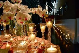 day orchid decor: valentines day table romantic candle decorations on valentines table
