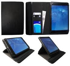 Alba <b>10 Inch</b> Wi-Fi Tablet Black Universal <b>360 Degree</b> Rotating PU ...