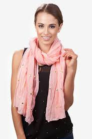 pink tell me about it stud scarf fashion scarves scarves com tell me about it stud scarf by scarves com
