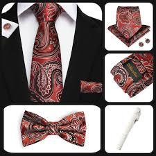 <b>Gentlemans Paisley</b> Bowtie <b>Necktie</b> Woven Silk Handkerchief ...