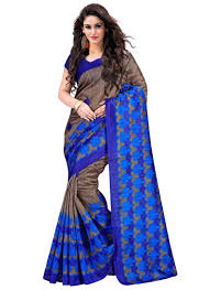 buy wama fashion blue colour bhagalpuri printed designer saree buy wama fashion blue colour bhagalpuri printed designer saree tz kamal online