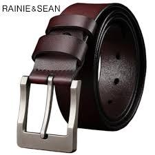 <b>RAINIE SEAN</b> Pin Buckle <b>Belt</b> For Trousers Man Waist <b>Belt</b> Leather ...