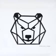 Geometric <b>Bear Head</b> vinyl decal, <b>Car stickers</b>, <b>Car Decals</b>, Laptop ...