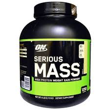 Optimum Nutrition, <b>Serious Mass</b>, <b>High Protein</b> Weight Gain Powder ...