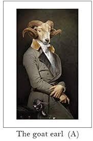 TUVSK Retro <b>Nostalgia</b> Gentleman oil paintings Wall Art Animal ...