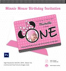 minnie mouse birthday invitation psd ai minnie mouse birthday invitation template