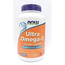 Now Foods <b>Ultra Omega</b>-<b>3</b> 500 EPA/250 DHA Softgels, <b>180</b> Softgels ...