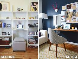 style girlfriend home office before and after home office makeover apartment home office