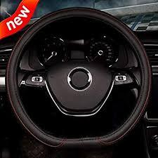 Flat Bottom Steering Wheel Cover - Black Red Line ... - Amazon.com