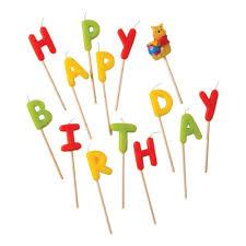 <b>Свечи</b>-<b>буквы Procos</b> Винни Happy Birthday — купить в интернет ...
