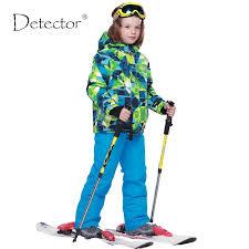 <b>Detector Boys</b> Ski Sets <b>Winter</b> Waterproof Windproof <b>Kids</b> Ski <b>Jacket</b>