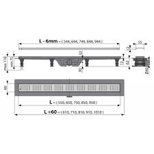 <b>AlcaPlast Simple APZ10</b>-950M водоотводящий <b>желоб</b> купить в ...