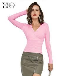 HEE GRAND <b>2018 Sexy Women</b> Sweaters <b>Autumn</b> New Trend ...
