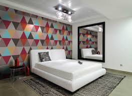 colorful wallpaper and semi flush mount lighting also bedroom accessories for bedroom art ideas artistic bedroom lighting ideas