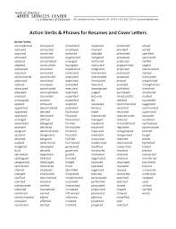 doc resume power verbs com resume action word list resume action verbs words essay on unity