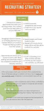 job and internship strategy guide for college students mindsumo college student recruiting strategy infographic