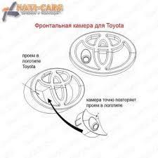 <b>Камера</b> переднего вида для <b>Toyota</b> (<b>фронтальная</b>), стандартный ...
