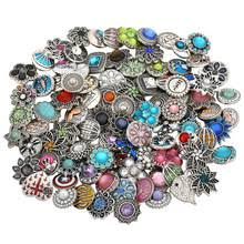 10pcs lot wholsale 18mm snap jewelry mixed styles buttons fit bracelet bangles necklace for women animal shape jewelry