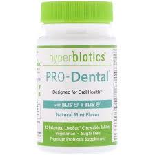 Hyperbiotics, <b>PRO</b>-<b>Dental</b>, <b>Natural Mint Flavor</b>, 45 Patented LiveBac ...