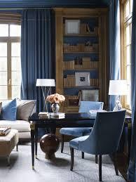 690 library blue library dark blue rooms dark blue walls french study room villanova study interiorss chic oak delicious suzanne kasler interiors blue office decor