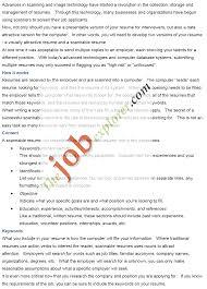 electronic resume eresume