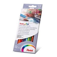 Набор акварельных <b>карандашей Pentel</b> Water <b>Colour pencils</b> 12 ...
