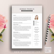 professional resume template cover letter word modern creative allcupation professional resume template cv template 1 2 and 3 page resume
