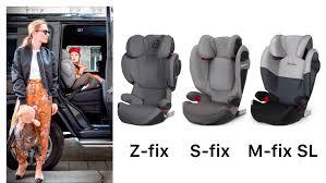 Сравнение <b>автокресел Cybex Solution</b> Z-fix   S-fix   M-fix SL   чем ...