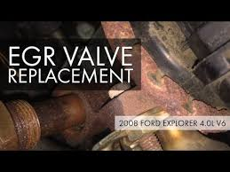 2008 <b>Ford</b> Explorer 4.0L V6 <b>EGR Valve</b> Replacement – Moderately ...