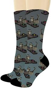 <b>Funny Animal</b> Socks Cat <b>DJ</b> Socks <b>DJ</b> Cat Gifts Turntable Socks for ...
