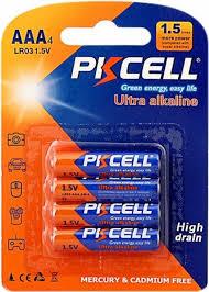 <b>Батарейка AAA</b> щелочная <b>PKCELL</b> LR03-4B 4шт — купить в ...