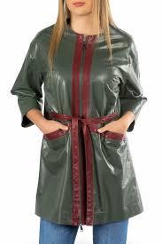 <b>Кожаная куртка MIO CALVINO</b> арт MIOAK10042W_GREEN ...
