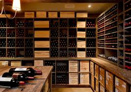 crisp architects elegant wine cellar photo in new york box version modern wine cellar