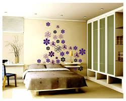 kids bedroom charming bedroom design with flower wall decal and comfy brown bed also warm charming kid bedroom design