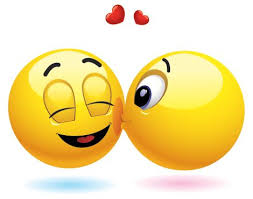 Bildergebnis für kuss smiley gif