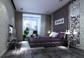 white bedroom gray