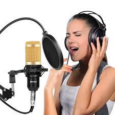 BM800 Professional Condenser Microphone Audio USB ...